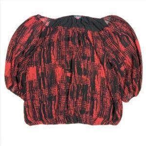 Vince Camuto Women's 1X XL Blouse Top Shirt Off